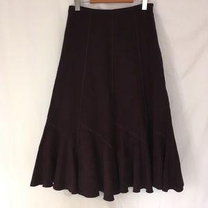 Dresses & Skirts - Laura petites purple faux suede midi skirt
